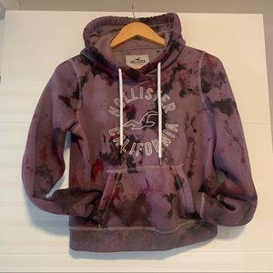 Hollister | Purple Dyed Hoodie